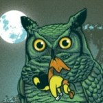 Owl Eat Mouse from Threadless by Ben Chen
