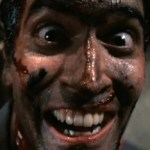 Bruce Campbell, crazy in Evil Dead