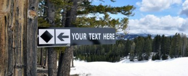 Your Text Here: Black Diamond Mountain Sign