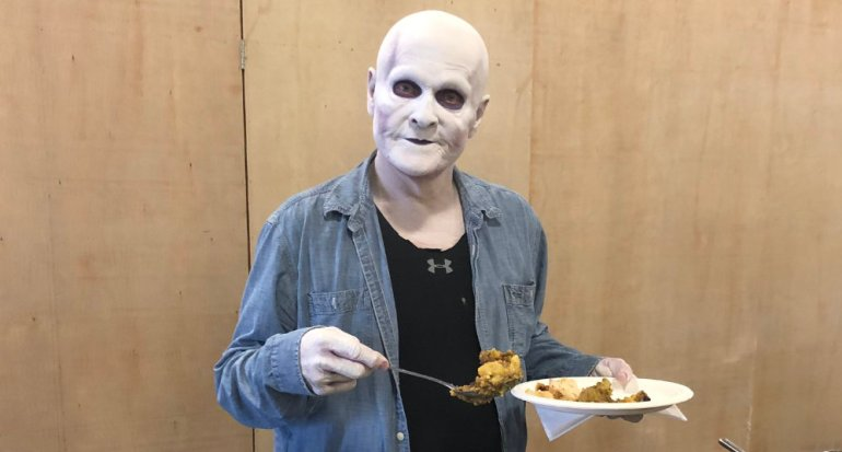 William Sadler as Death from Bill and Ted Face the Music, enjoying some crafty