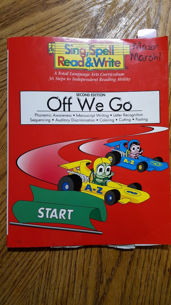 Sing Spell Read and Write Off We Go Workbook Homeschooling Preschool - What do I DO for Pre-School?