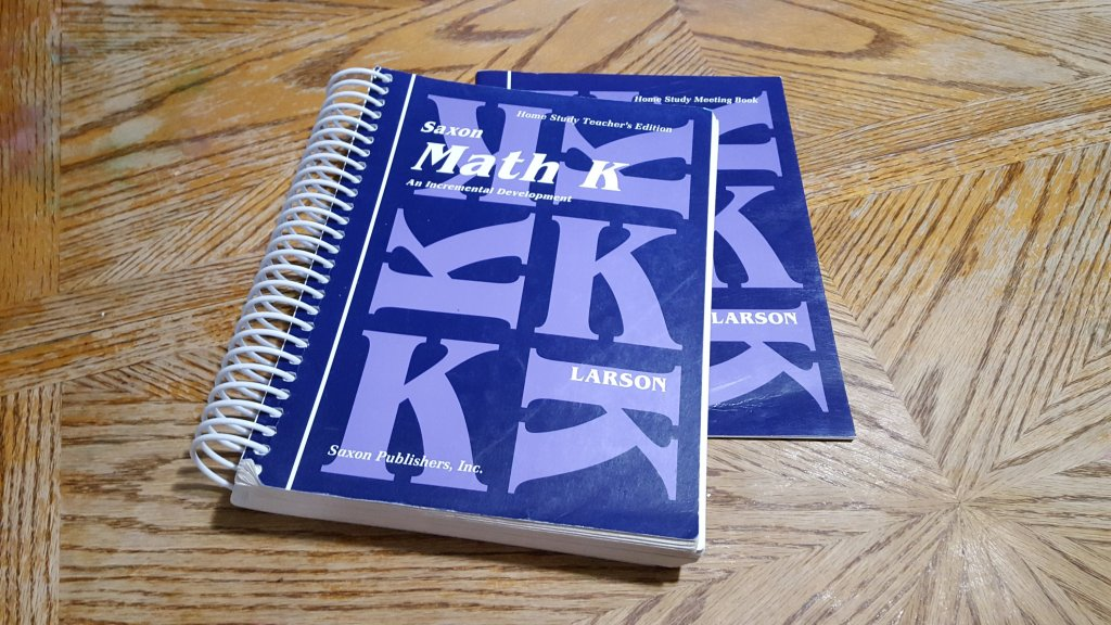 Suggested Math books for Grade K / Review of Saxon Math K for use in Homeschooling your Kidnergartener