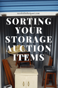 Sorting Your Storage Auction Items