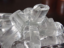 tube ice from the ice bucket