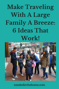 Make Traveling With A Large Family A Breeze: 6 Ideas That Work!