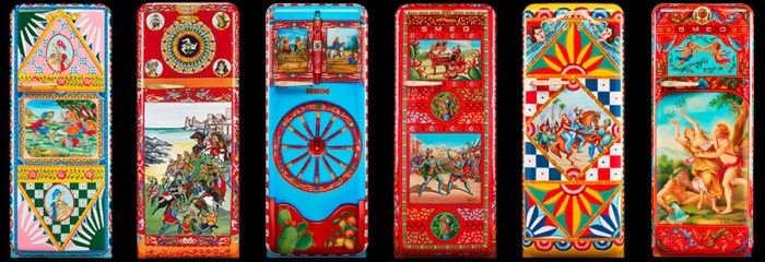hand painted art limited edition Smeg refrigerator from Dolce and Gabbana
