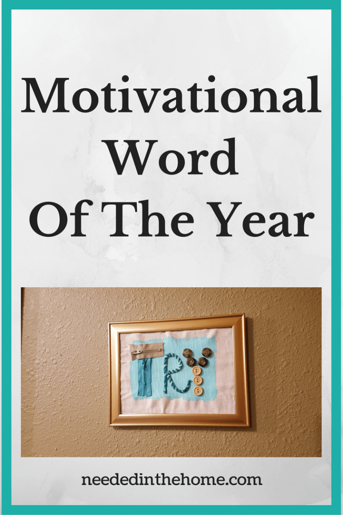 motivational word of the year try