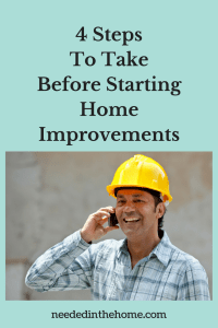4 Steps To Take Before Starting Home Improvements