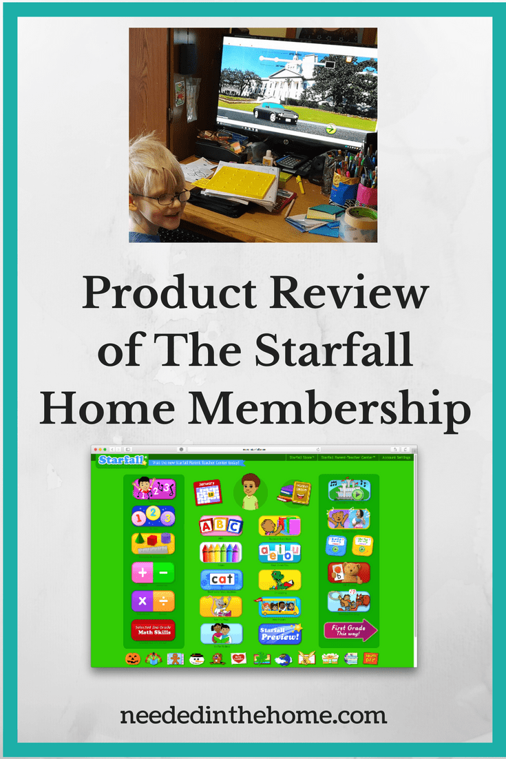 Product Review Of The Starfall Home Membership