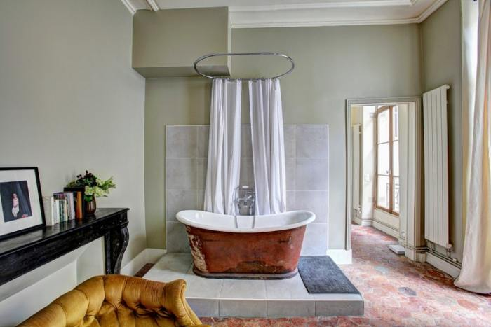 elegant bath tub tile shower curtain marble mantle greenery window your bathroom deserves to be dripping in luxury