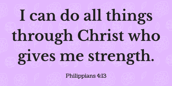 Inspirational Bible Verse Quote I Can Do All Things Through Christ Who Gives Me Strength Philippians