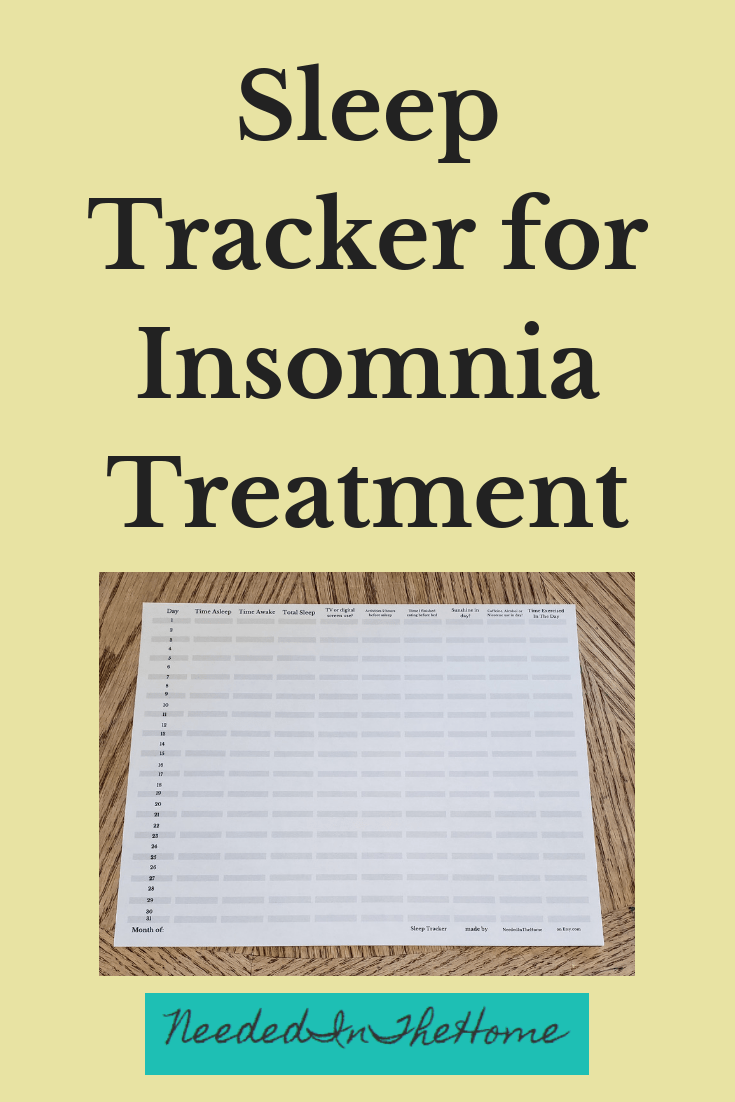 photograph relating to Sleep Log Printable identify Snooze Tracker for Sleeplessness Method - NeededInTheHome