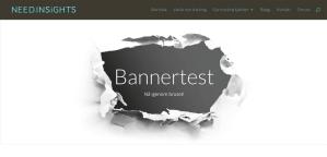 Eye tracking banner test