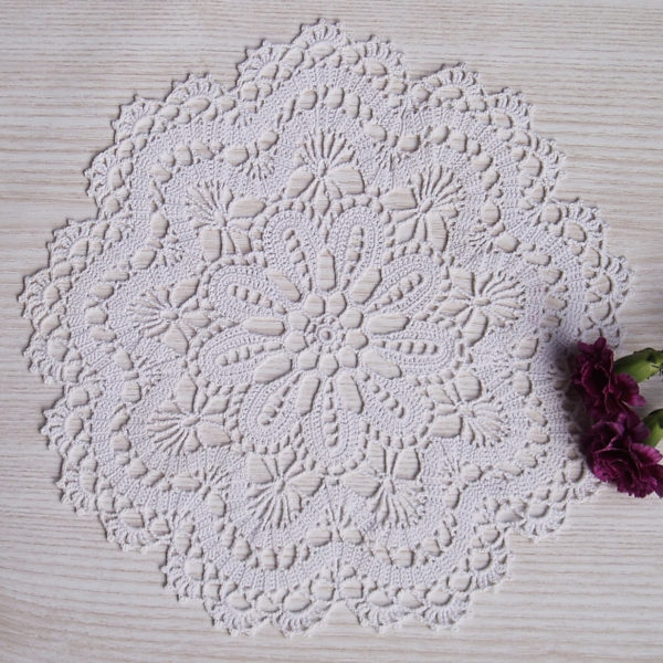 White Lace Crochet Doily , Crochet Round Doily, Lace Table