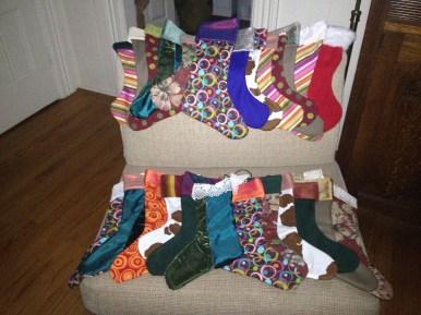 Christmas Stockings of multi-color