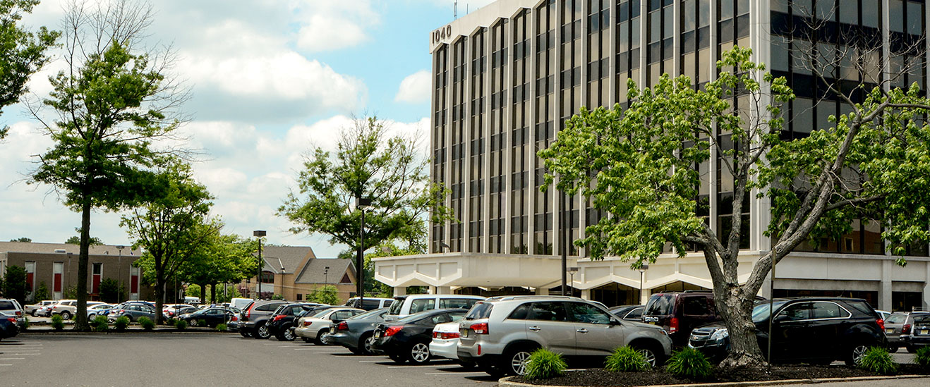 Lease office space at 1040 N. Kings Highway - the most visible office building in the center of Cherry Hill, NJ.