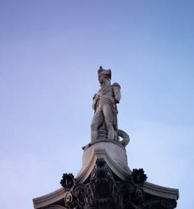 Nelson on his Column