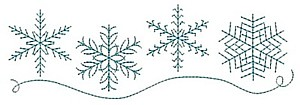 Image result for snowflakes line divider