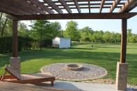 A DIY Back Yard Transformation; Pergola, Deck, & Fire Pit ...