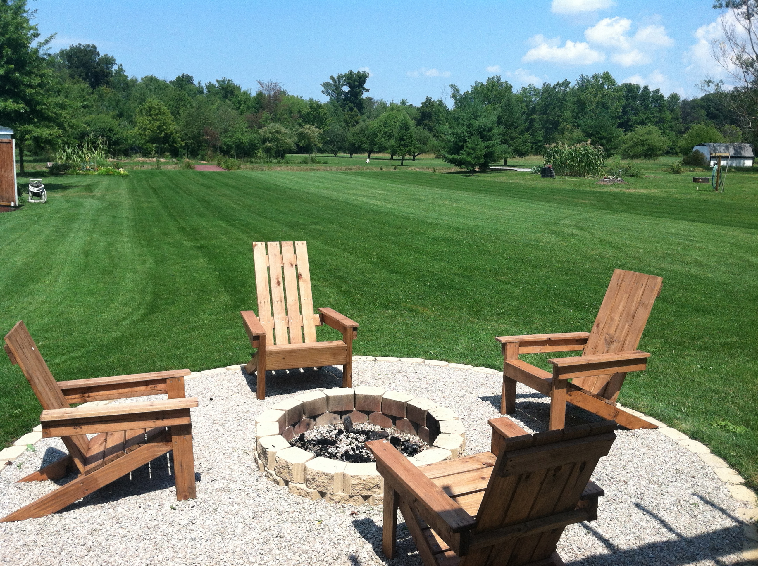 Chairs Around Fire Pit A Diy Back Yard Transformation Pergola Deck And Fire Pit