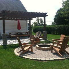 Adirondack Chairs Fire Pit Lawn Lowes A Diy Back Yard Transformation Pergola Deck And
