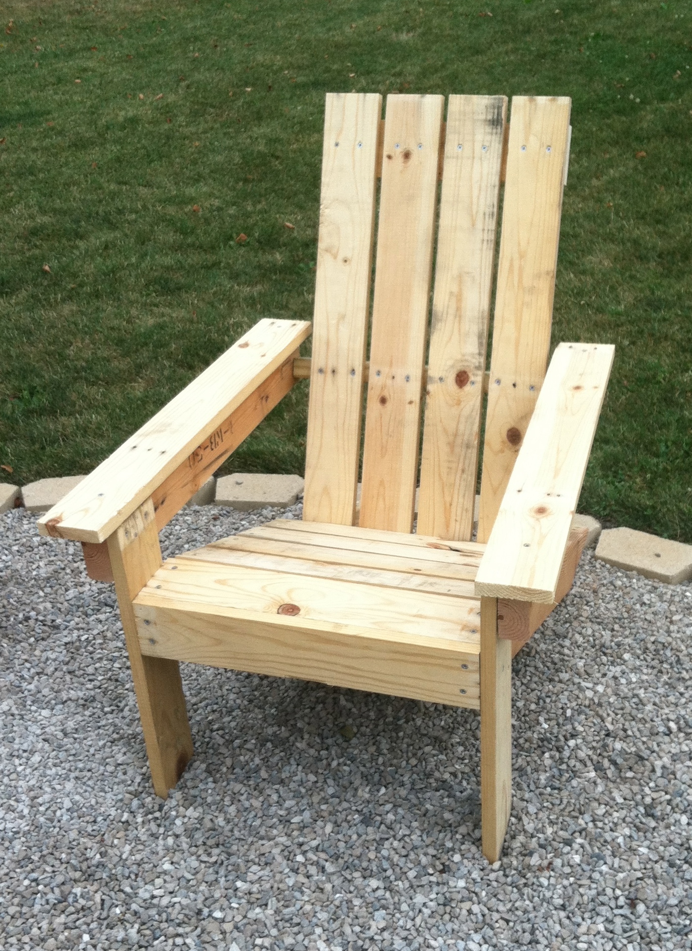 diy adirondack chair kit inflatable pool chairs pallet wood for 2 30 at