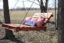 Diy Pallet Swing; Relax And Enjoy Spring Needles
