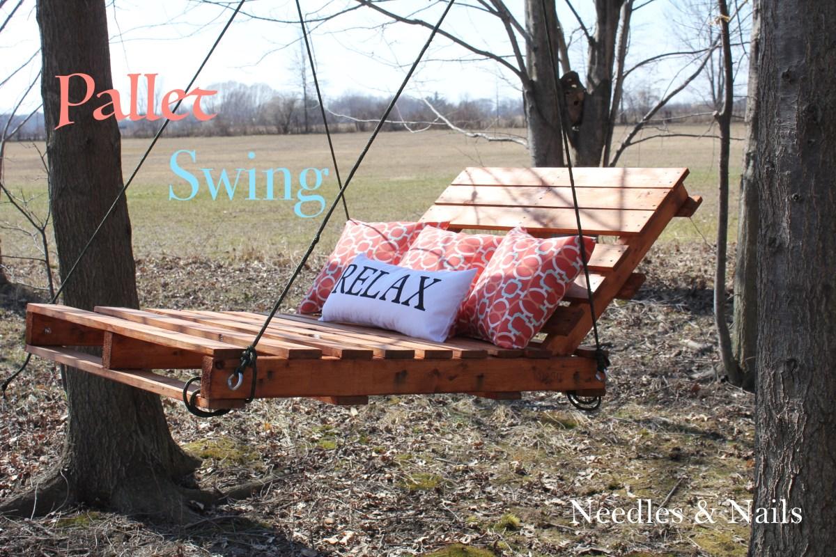 DIY Pallet Swing RELAX and enjoy spring  DIY at Needles