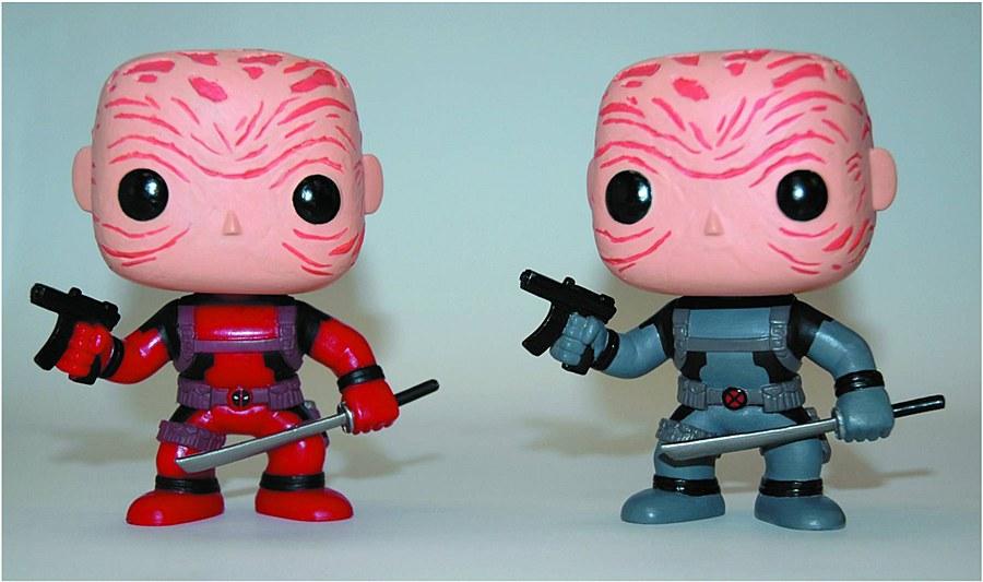 Pop Marvel Deadpool Previews Exlusive Maskless Grey Version Vinyl Figure