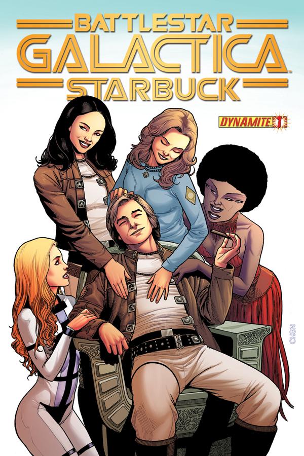 FIRST LOOK OF DYNAMITE'S BATTLESTAR GALACTICA: STARBUCK #1!