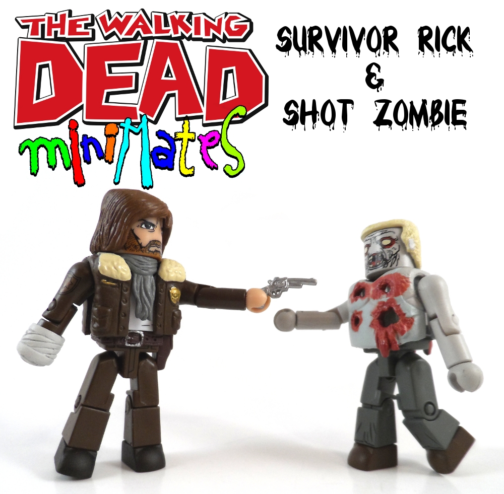 Survivor Rick & Shot Zombie Minimates Pack