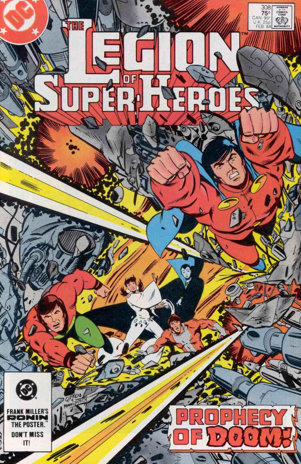 Reviews of Old Comics: Legion of Super-Heroes 308