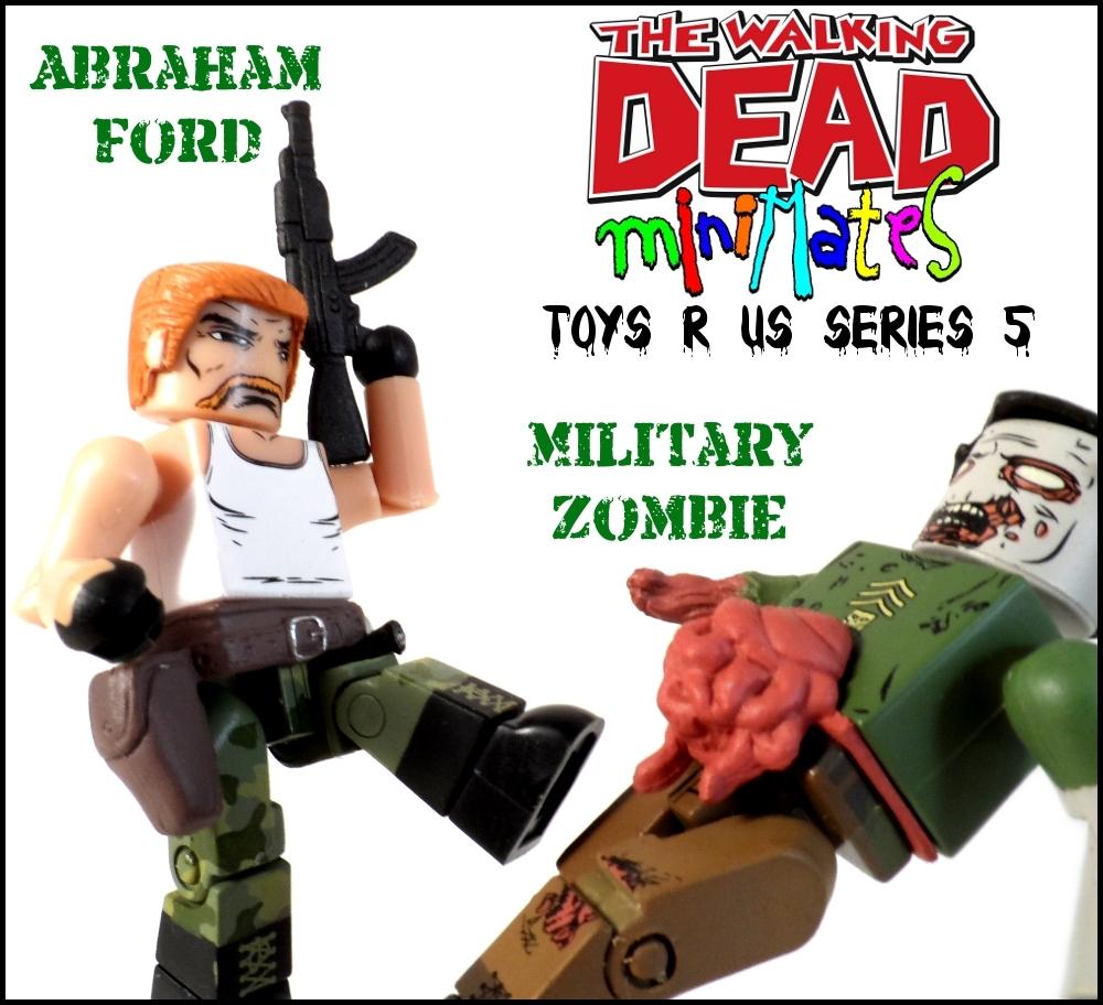 Walking Dead Minimates Abraham Ford & Military Zombie