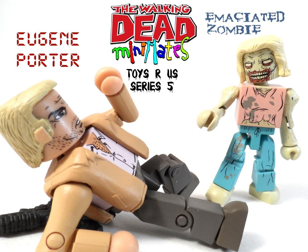 Walking Dead Minimates Eugene Porter & Emaciated Zombie