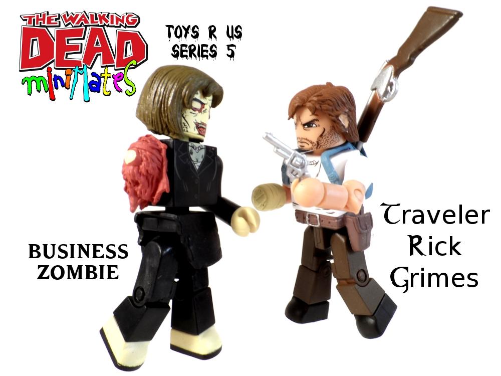 Walking Dead Minimates Traveler Rick & Business Zombie