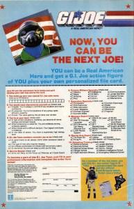 Inside Front Cover of GI Joe # 72 June 1988