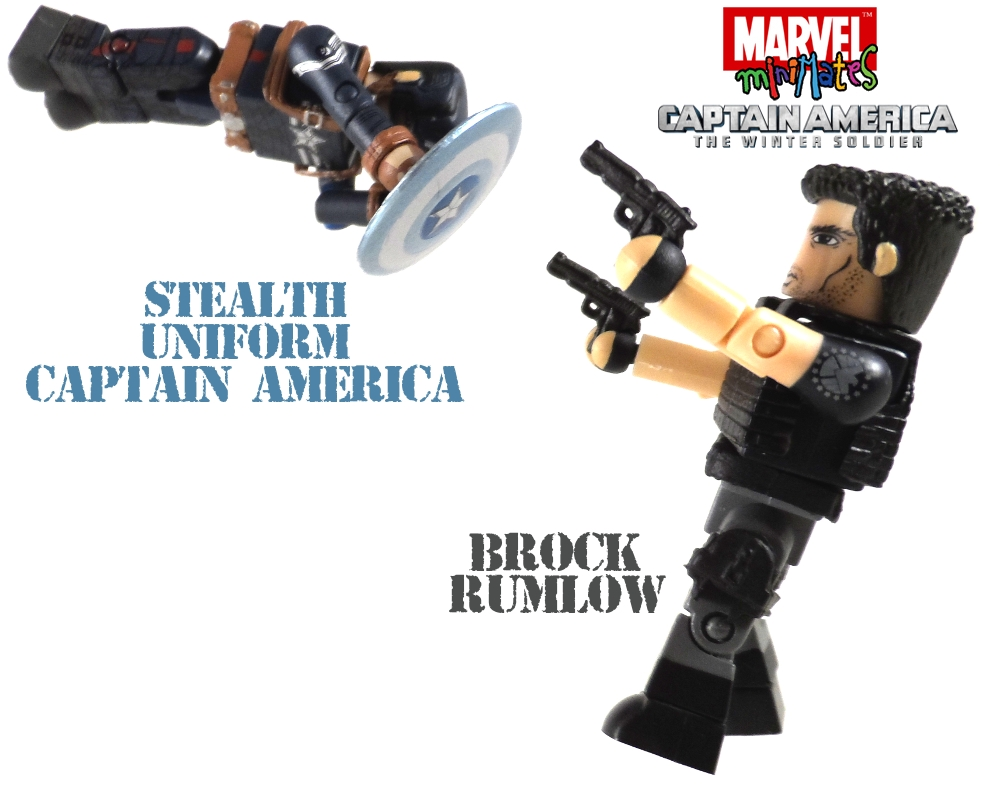Stealth Captain America & Brock Rumlow Minimates Review