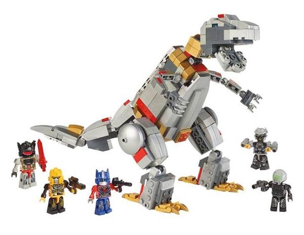 """Official Image of G1 Grimlock Unleashed Toys """"R"""" Us Kre-O Set"""