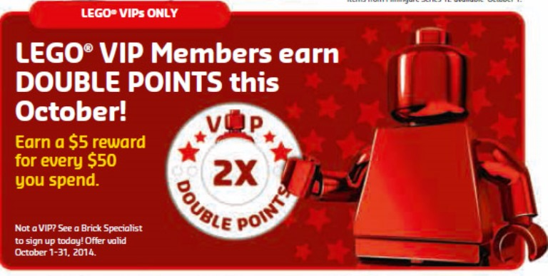 LEGO October 2014 Store Calendar Information And Double Points ...