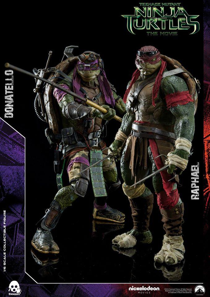 ThreeZero TMNT 2014 Donatello and Raphael Pre-Order Info and Images