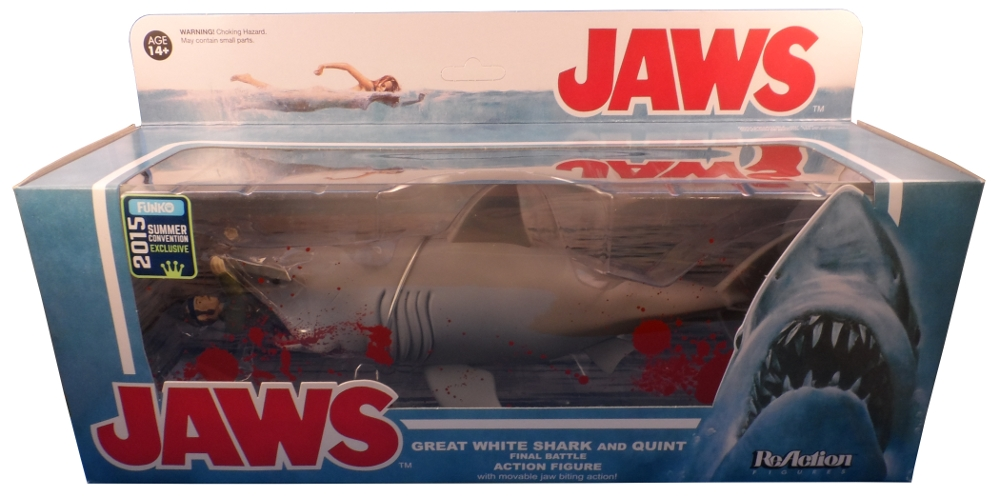Shark Toy Box : Jaws reaction figures final battle shark quint review