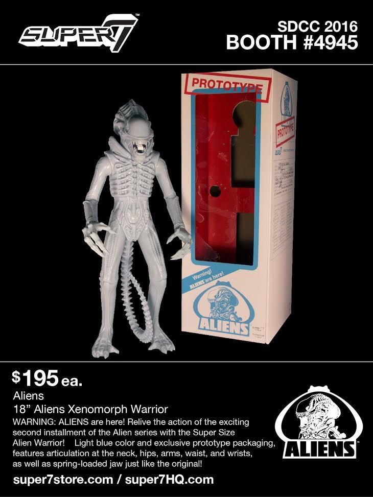 Super 7 Alien Warrior Prototype Figure