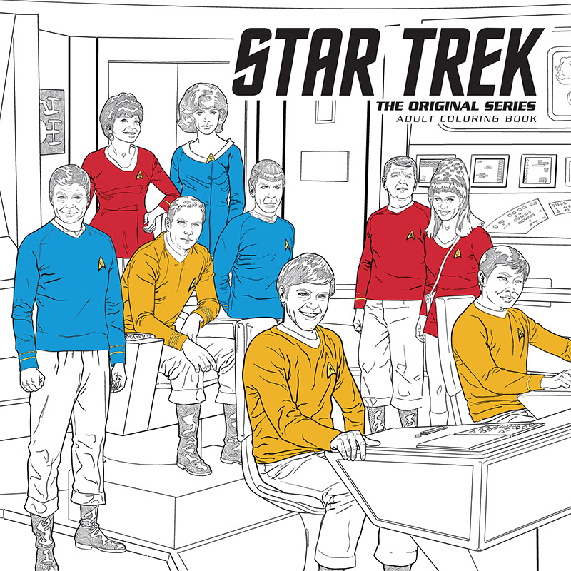 "Dark Horse Adds ""Star Trek"" to Adult Coloring Book Program"
