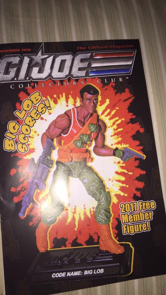 And the 2017 GI Joe Collectors Club Figure is…..BIG LOB!!