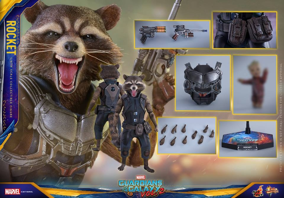GOTG Vol. 2 – 1/6th scale Rocket Collectible Figure