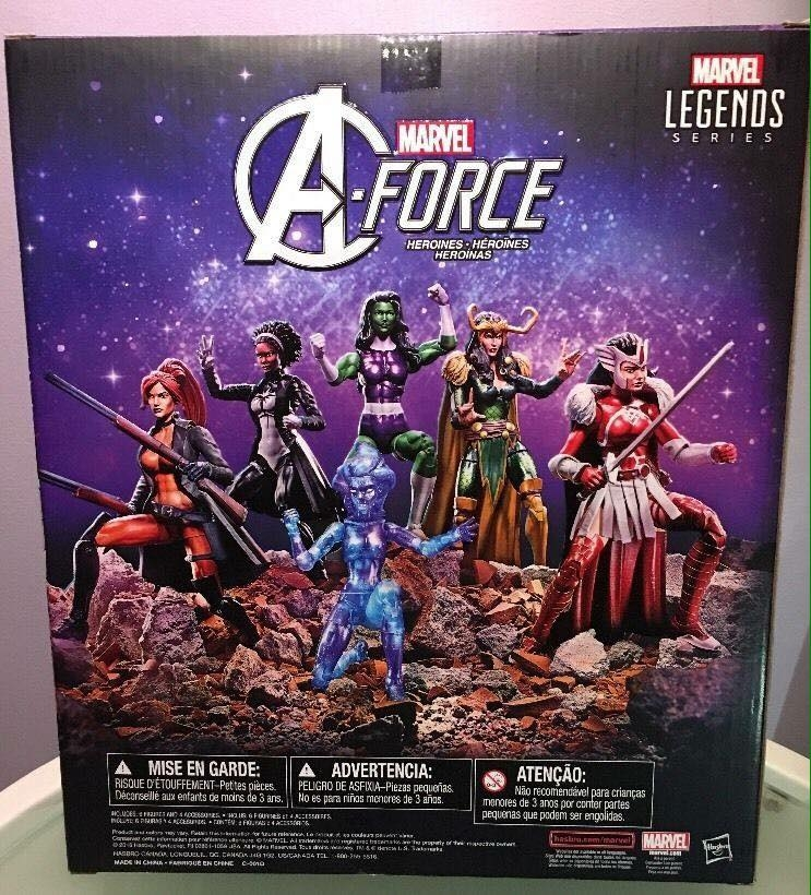 Marvel Legends 6″ Toys R Us A-Force Boxset Revealed
