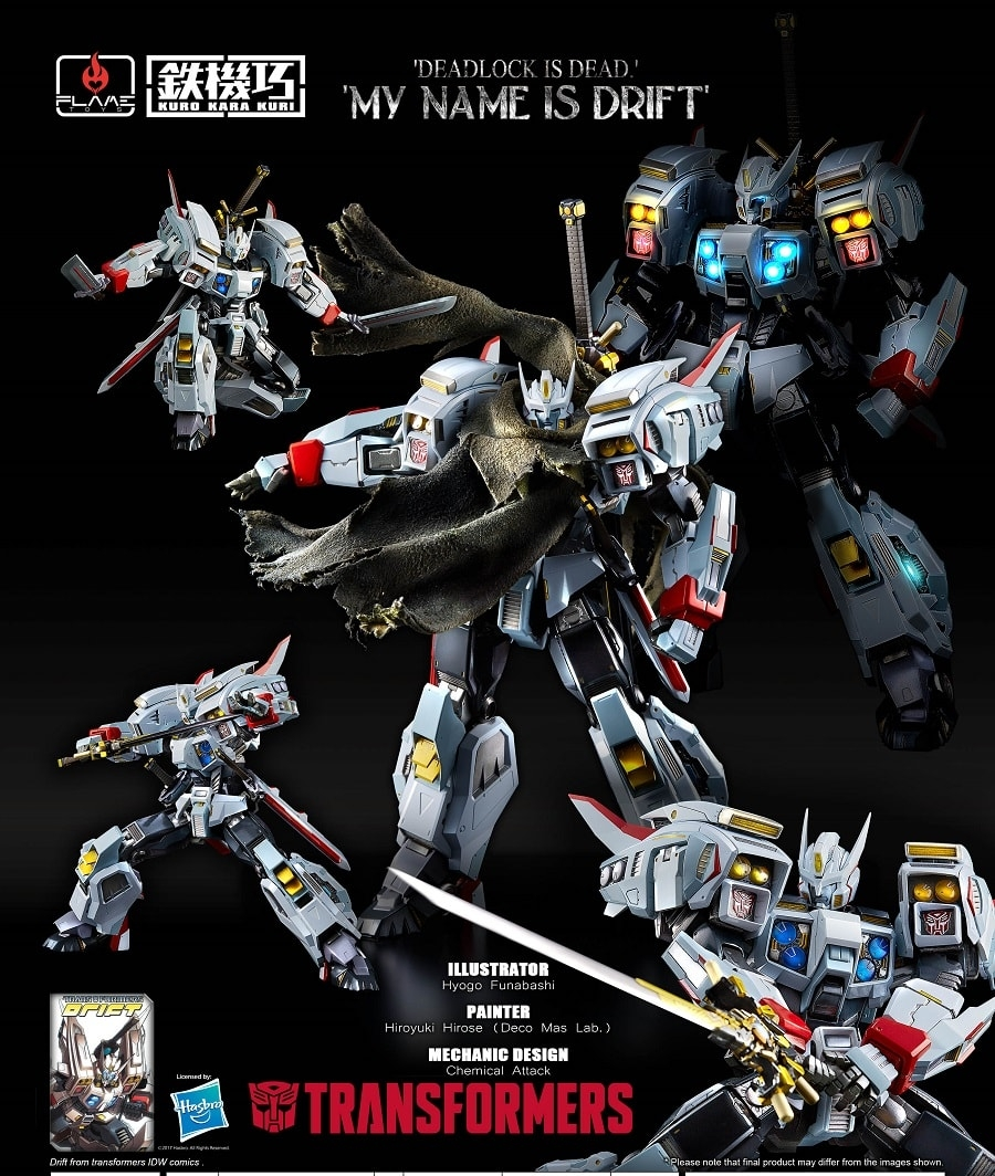 Transformers Drift from Flame Toys Coming Soon!