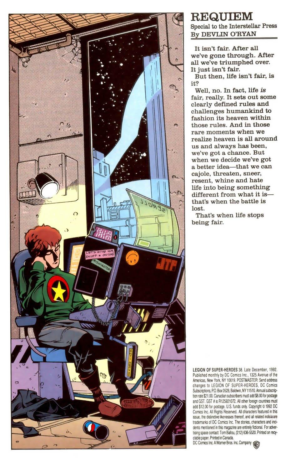 Legion of Super-Heroes #38 – Reviews of Old Comics