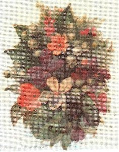 Home-printed needlepoint canvas by Judy Heim