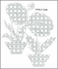 Gingham poppy pattern